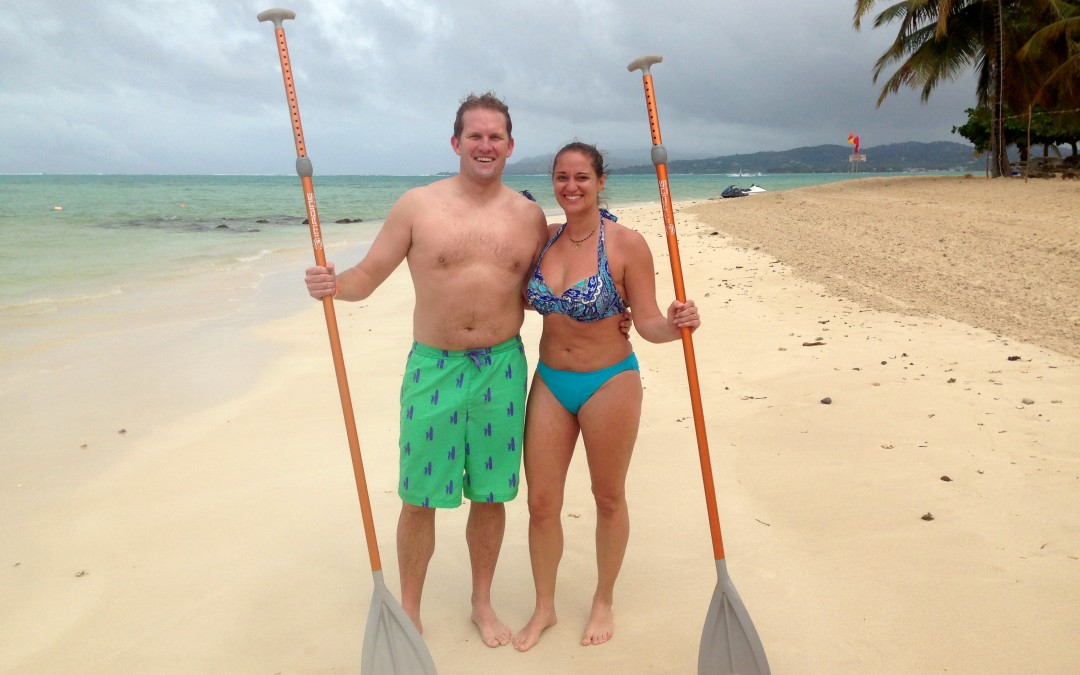 Valentines in Tobago – Stand Up Paddle Style!