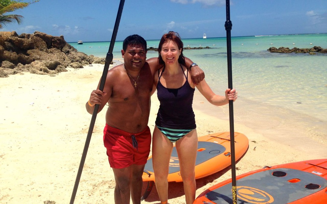 Learning to Stand Up Paddle in Tobago