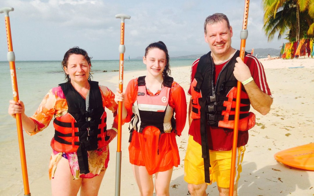Family fun with Stand Up Paddle Tobago