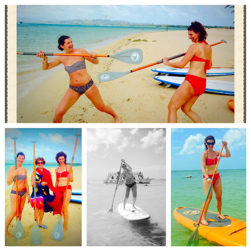 Sisters learn to Stand Up Paddle