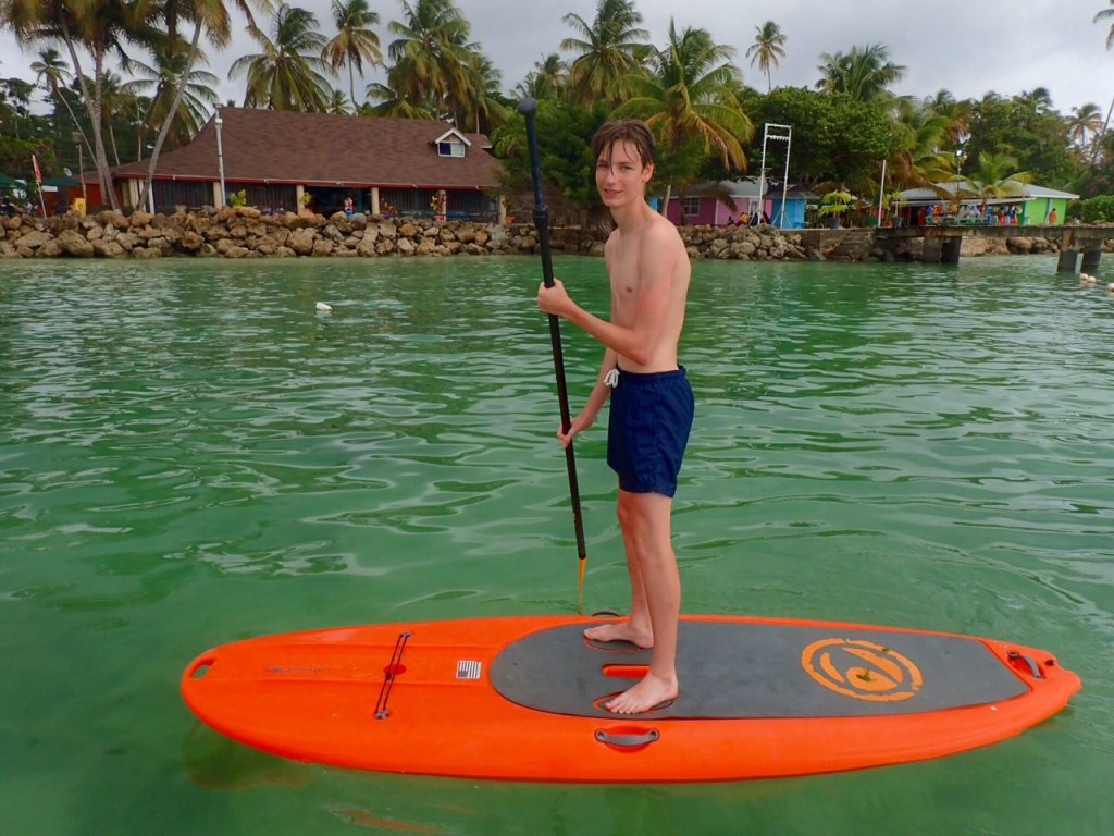 Learning to stand up paddle