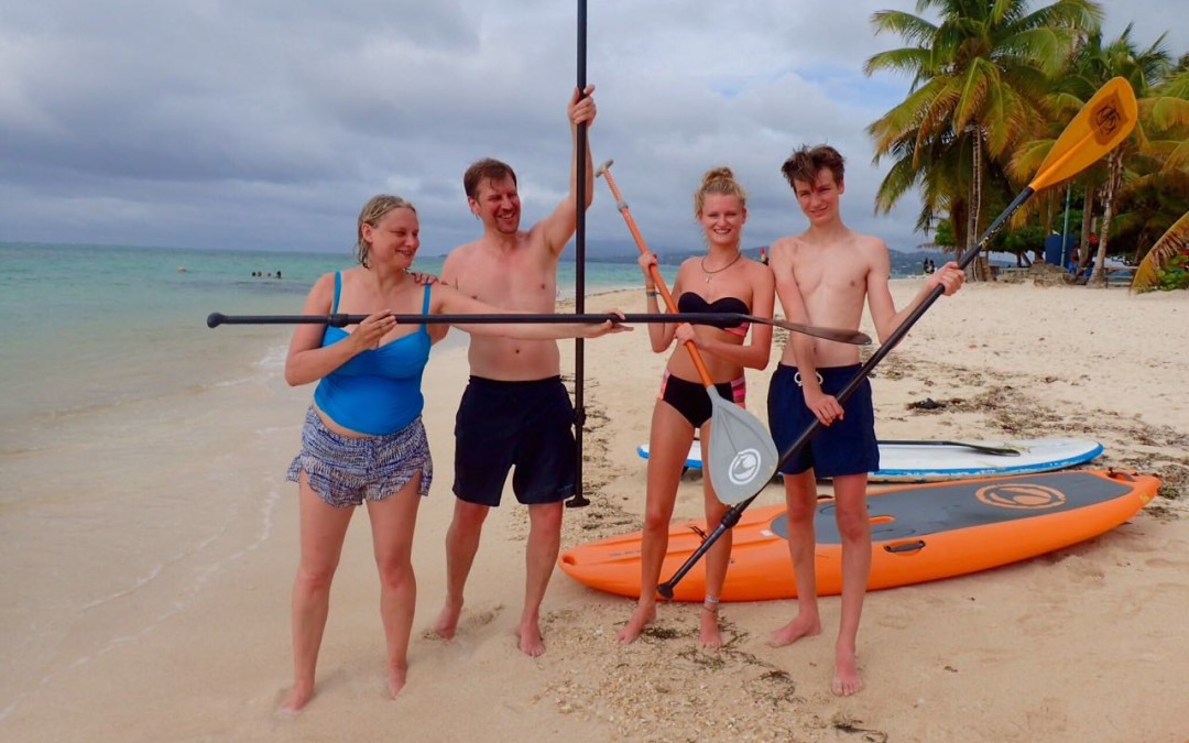 A family that paddles together is a just a FUN Family!