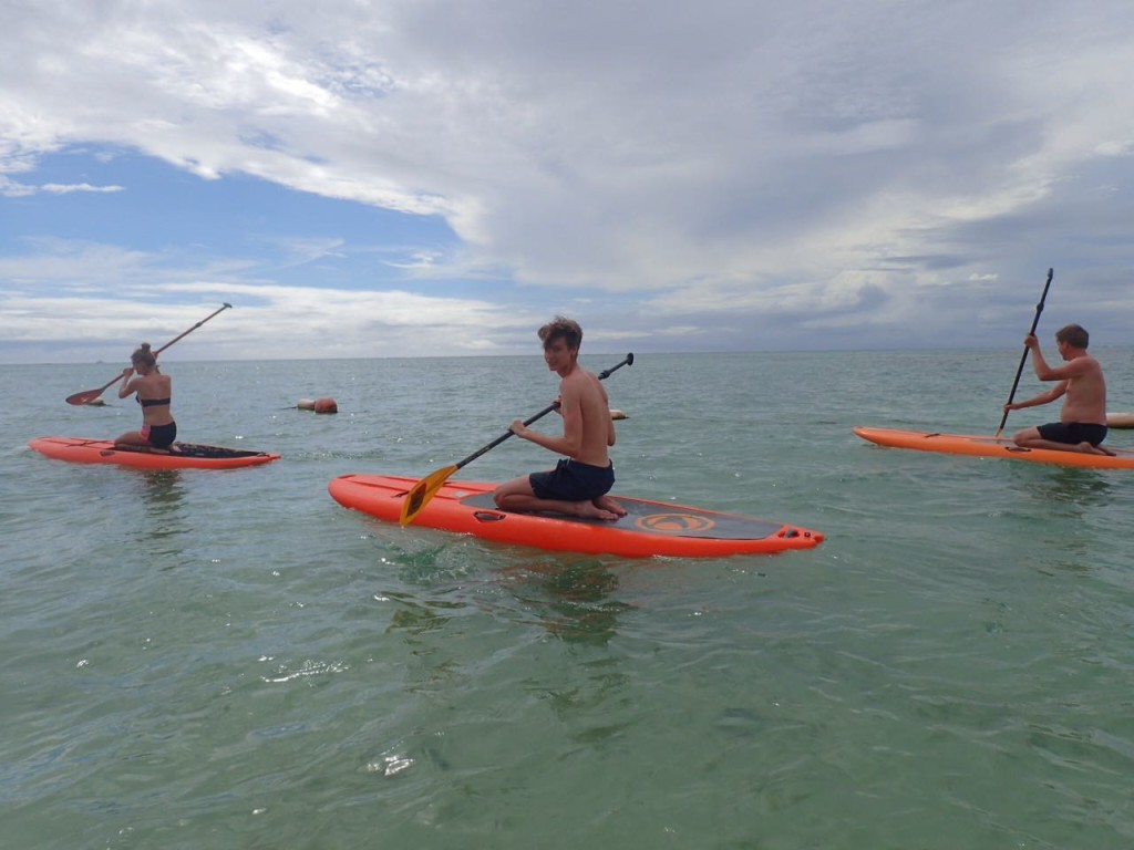 Learning to paddle on our knees